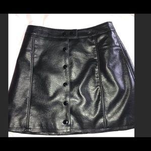 Flaux leather H&M Mini Skirt